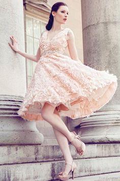 A frilly pink number that is still wonderfully elegant! Dress // Yumi Katsura