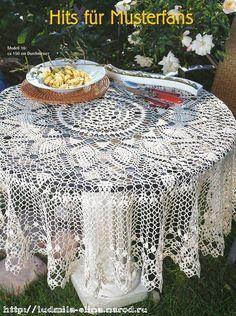 "Photo from album ""Скатерти крючком! Crochet Doily Diagram, Crochet Mandala, Crochet Granny, Filet Crochet, Crochet Patterns, Tablecloth Curtains, Crochet Tablecloth, Round Tablecloth, Tablecloths"