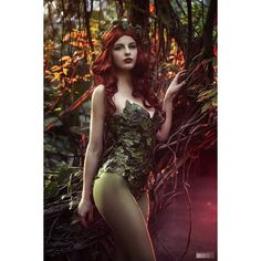"""studiozahora: """"Poison Ivy (Batman) Photoshoot Model & Costume: Magda... ❤ liked on Polyvore featuring costumes, poison ivy halloween costume, poison ivy costume, cosplay halloween costumes, poison ivy cosplay costume and role play costumes"""