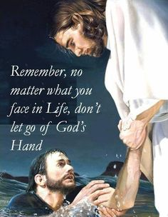 If you ever feel like the world's closing in around you and that you're starting to drown—look up in faith, and with trust take the hand of Him http://facebook.com/pages/The-Lord-Jesus-Christ/173301249409767 who is always there to lift and rescue you!