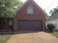 Painted the garage door a dark beige brown