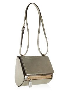 Givenchy Mini Pandora Box bag in metallic leather   NET-A-PORTER