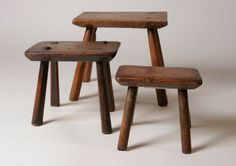 Four Legged Stools (Sold by Robert Young Antiques) #FolkArt