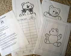 Teddy bear printables and crafts