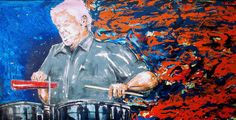 Tito Puente.  Painting by Omar Javier Correa