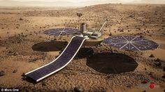 In 2018 Mars One claim they will send a stationary lander to the surface of Mars, shown in...