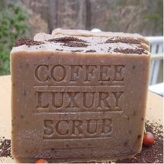 Coffee soap! :-) I'm sure I can find a DIY for this...