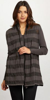 NWT JARBO Striped City Cardigan Color: Smoke Size: 40