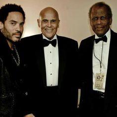 Lenny Kravitz, Harry Belafonte and Sidney Poitier