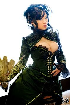 oriental steampunk, with serious... fan