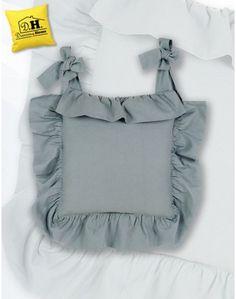 Copricuscino per sedia con gala Azzurro Polvere Blanc Mariclo Basic Collection Shabby Chic