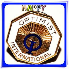 Collectible pin optimism positive signs