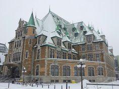 Gare de Quebec sous la neige