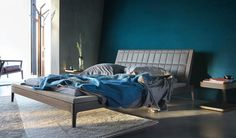 petrol blue bedroom wall