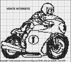 sport - moto - point de croix - cross stitch - Blog : http://broderiemimie44.canalblog.com/