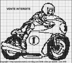 sport - moto - point de croix - cross stitch - Blog : http://broderiemimie44.canalblog.com/