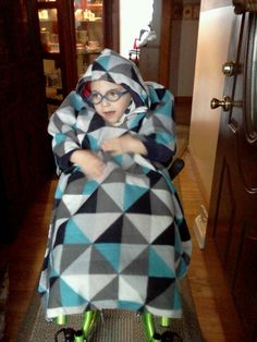 Blanket Poncho for special needs kids to by keepingwarmwithclark, $35.00