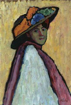 Gabriele Münter, Bildnis Marianne Werefkin 1909