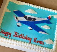 Airplane cake #sheetcakesdonthavetobeboring #sheetcakes #airplanecakes