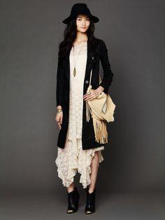 Irregular sexy lace dress