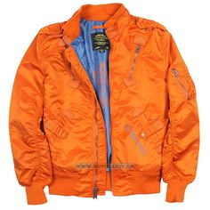 Куртка Refueler Flight Jacket Alpha Industries (Bonfire Orange) Розміри: під замовлення Ціна: 154 $