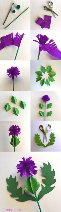 Make a paper thistle step-by-step tutorial and free templates happythought.co.uk/craft/how-to-make-a-paper-thistle More