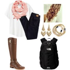 Preppy school outfit