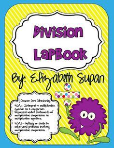 Fun in Room 4B: Common Core Aligned Division Lapbook