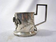 Silber Teeglashalter - Podstakannik - Silber 88 Russland - POSTNIKOV