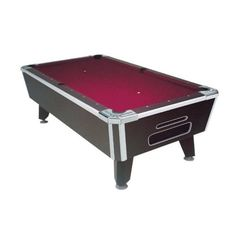 Black Diamond Pool Table DBA Coin Operated From Great American - 7 foot diamond pool table