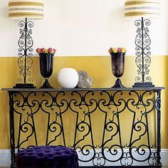 Mediterranean wrought iron lamps.