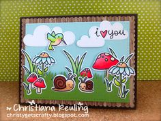 Christy Gets Crafty | using Lawn Fawn Gleeful Gardens | card collab with Kari Webster of KWCardDesign (video tutorial)