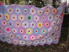 vintage hand stitched quilt top