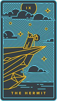 The Hermit Tarot Card - Golden Thread Tarot Deck
