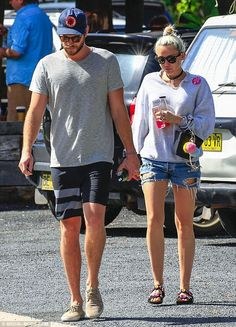 Liam Hemsworth and Miley Cyrus - In Byron Bay, New South Wales, Australia.  (29 April 2016)