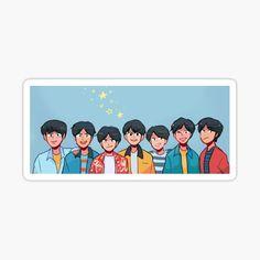 Pop Stickers, Kawaii Stickers, Printable Stickers, Bts Drawings, Kawaii Drawings, Bts Jin, Bts Jungkook, Journal Stickers, Planner Stickers