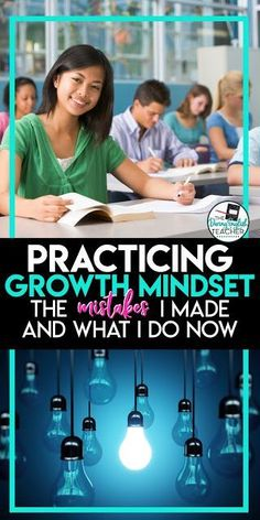 Practicing Growth Mindset in the Classroom. Here is a look at some of the mistakes I made as a new teacher and how I grew to be a better teacher and include growth mindset in my classroom. World History Teaching, World History Lessons, First Year Teachers, New Teachers, Growth Mindset Activities, Middle School Counseling, High School English, Teaching Strategies, Teaching Resources