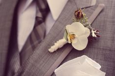 Orchid boutonniere from Lola Event Floral Design