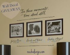 Beautiful new collage style wall decal! Custom designs for endless combinations! Mother's Day Giveaway!