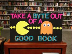 Cute bulletin board! I would put book covers between a few yellow dots. This would be great for middle school