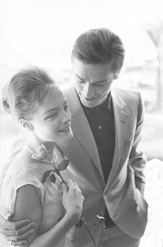 Romy Schneider and Alain Delon in Cannes