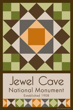 Olde America Antiques | Quilt Blocks | National Parks | Bozeman Montana : NAT PARK SERVICE CENTENNIAL 2016 - Jewel Cave National Monument Quilt Block