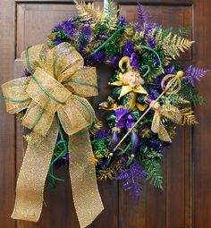 Mardi Gras jester wreath