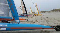 strandzeilen op het strand van Terschelling.