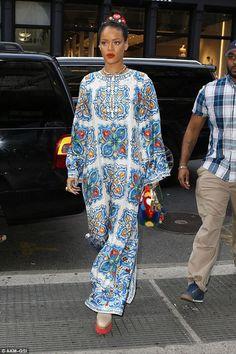 Dolce and Gabbana printed silk-twill dress