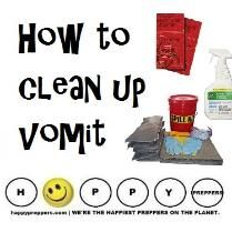 ...and ASSEMBLE A SPILL CLEANUP KIT. When the vomit hits the fan and all over the carpet, here's what to do... http://happypreppers.com/vomit.html