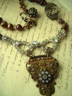 rhinestones and brass