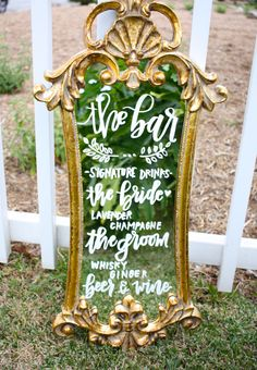 A personal favorite from my Etsy shop https://www.etsy.com/listing/231227686/wedding-mirror-menu-handlettered-mirror