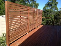 timber privacy screen - Google Search