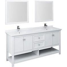 Double Sink Bathroom, Double Sink Vanity, White Vanity, Bathroom Sink Vanity, Traditional Bathroom Mirrors, 72 Inch Vanity, Storing Towels, Ceramic Undermount Sink, Grey Wood